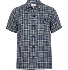 Snow Peak Checked Cotton-Flannel Shirt
