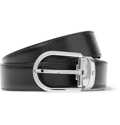 Montblanc - 3cm Black Leather Belt