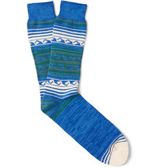 Anonymous Ism - Patterned Cotton-Blend Socks