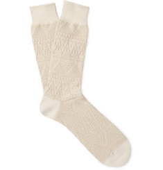 Anonymous Ism - Mountain Range Textured-Knit Socks