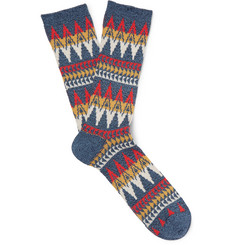 Anonymous Ism Patterned Cotton-Blend Socks