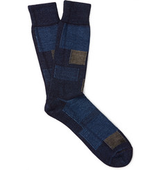 Anonymous Ism - Patchwork Cotton-Blend Socks