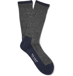 Mr. Gray Two-Tone Wool-Blend Socks