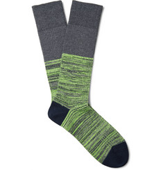 Mr. Gray - Reverse Hi-Vis Mélange Knitted Socks