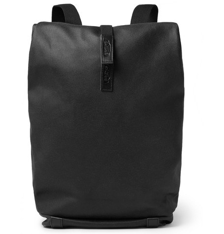 Brooks England - Pickwick Leather-Trimmed Canvas Backpack - Black