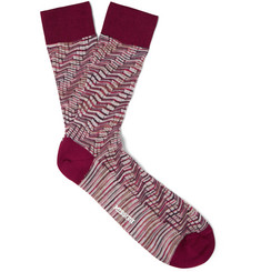 Missoni Zigzag Crochet-Knit Cotton Socks
