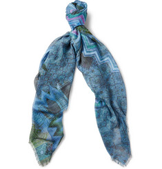 Missoni Printed Modal and Linen-Blend Scarf