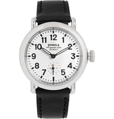 Shinola - The Runwell 36mm Stainless Steel and Leather Watch