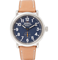 Shinola The Runwell 41mm Stainless Steel and Leather Watch