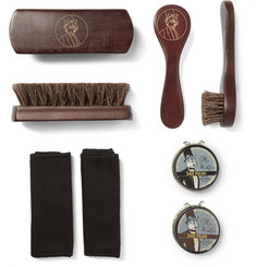 WOLF Blake Pebble-Grain Leather Shoe Shine Kit