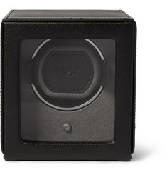 WOLF Cub Pebble-Grain Faux Leather Watch Winder
