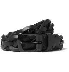 Oliver Spencer - 3cm Black Braided Leather Belt