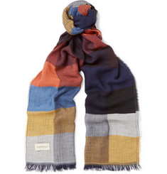 Oliver Spencer Mexico Colour-Block Woven Scarf