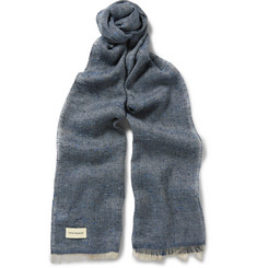 Oliver Spencer Birch Slub Silk and Flax-Blend Scarf