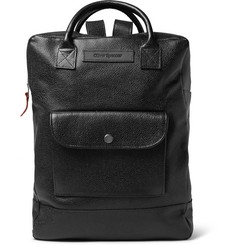Oliver Spencer Pebble-Grain Leather Backpack
