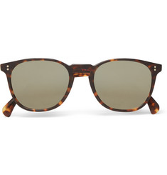 Oliver Peoples Sir Finlay Round-Frame Acetate Polarised Sunglasses