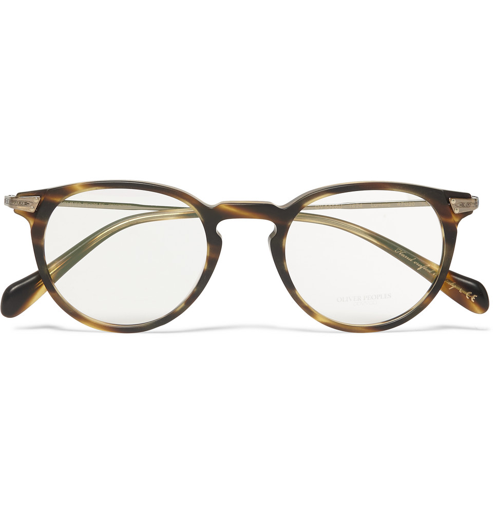 Sheldrake Round Frame Tortoiseshell Acetate Optical Glasses Brown