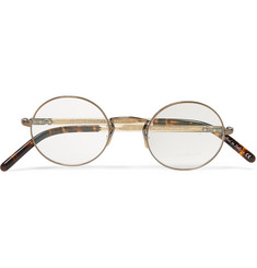 Oliver Peoples Overstreet Round-Frame Metal Optical Glasses