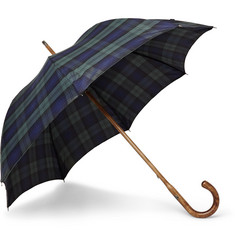 Francesco Maglia Lord Black Watch Maple Wood-Handle Umbrella