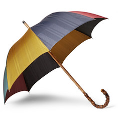 Francesco Maglia - Striped Bamboo-Handle Umbrella
