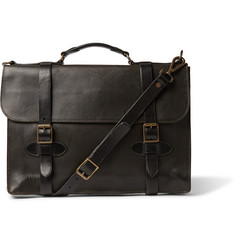 RRL - Corbin Distressed Leather Briefcase