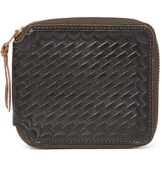 RRL - Embossed Leather Zip-Around Wallet