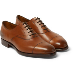 Edward Green - Chelsea Burnished-Leather Oxford Shoes
