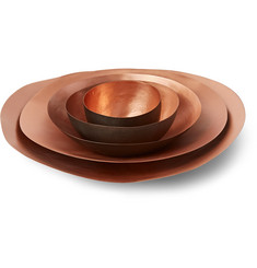 Tom Dixon Set of Five Form Tall Copper Bowls