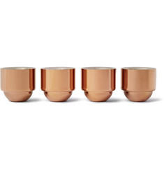 Tom Dixon Brew Set of Four Copper-Coated Espresso Cups