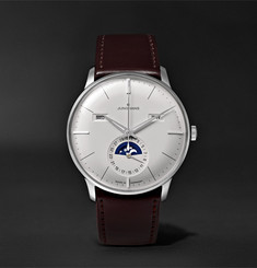 Junghans - Meister Kalender 40mm Stainless Steel and Leather Watch