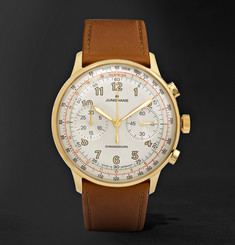 Junghans Meister Telemeter Chronoscope 40mm Gold-Tone and Leather Watch