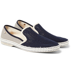 Rivieras - Vajoliroja Cotton-Mesh Slip-On Shoes