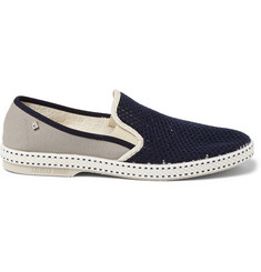 Rivieras Vajoliroja Cotton-Mesh Slip-On Shoes