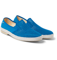 Rivieras - Classic Cotton-Mesh Slip-On Shoes