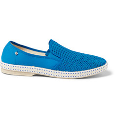 Rivieras Classic Cotton-Mesh Slip-On Shoes