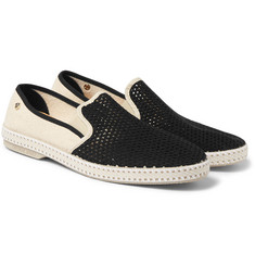 Rivieras - Nervous Werck Cotton-Mesh Slip-On Shoes