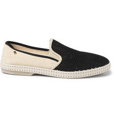 Rivieras Nervous Werck Cotton-Mesh Slip-On Shoes