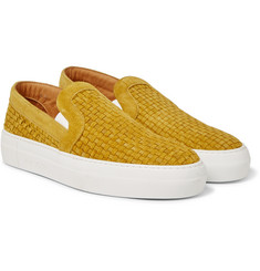 Armando Cabral - Bowery Woven Suede Slip-On Sneakers