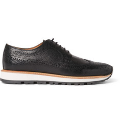 Armando Cabral Alfama Grained-Leather Wingtip Brogues