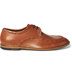 Armando Cabral Leonard Stitch-Detailed Leather Derby Shoes