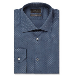 Paul Smith London Blue Polka-Dot Cotton Shirt