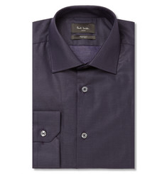 Paul Smith London Navy Pin-Dot Cotton Shirt