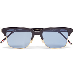 Thom Browne Square-Frame Acetate and Metal Sunglasses