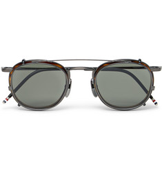 Thom Browne Round-Frame Acetate and Metal Convertible Glasses