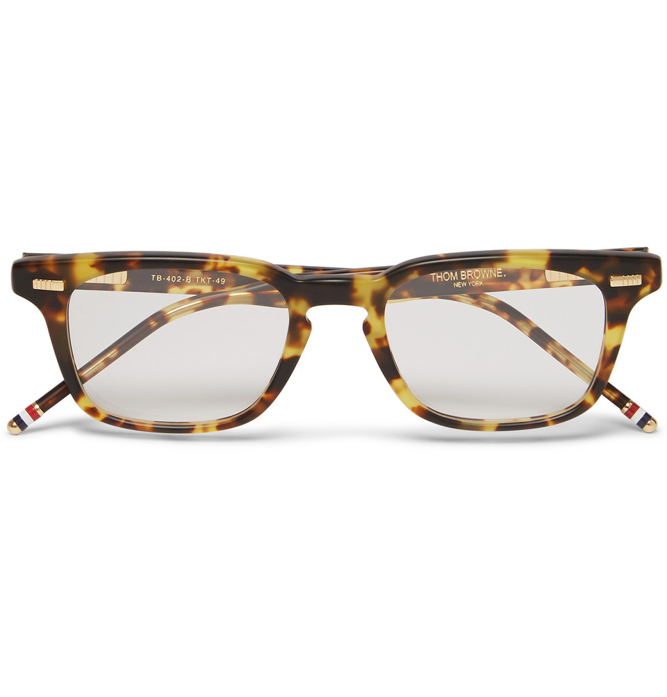 Square Frame Tortoiseshell Acetate Optical Glasses Brown