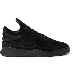 Filling Pieces Ghost Waxed-Nubuck Sneakers