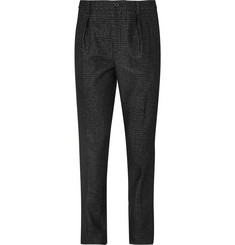 Wooyoungmi Slim-Fit Checked Wool-Blend Trousers