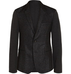 Wooyoungmi Slim-Fit Panelled Checked  Wool-Blend Blazer