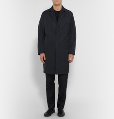 Wooyoungmi Faille-Trimmed Twill Trench Coat