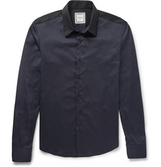Wooyoungmi - Two-Tone Cotton-Blend Poplin Shirt